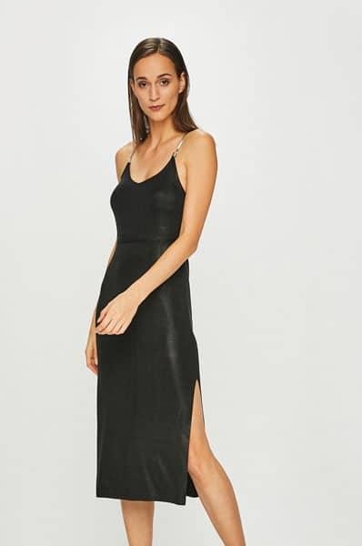 rochie revelion de matase  culoare neagra