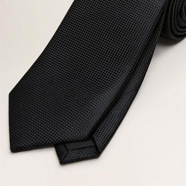 Cravata cu aspect texturat Basic