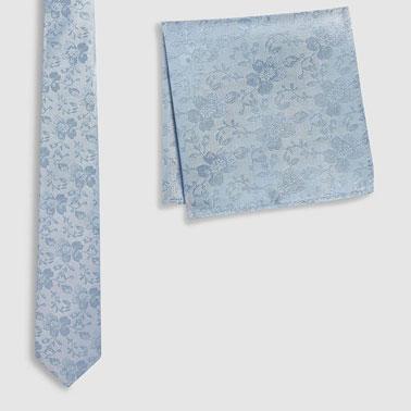 Cravata de matase si batista decorativa