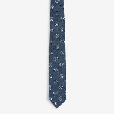Set de cravata cu imprimeu paisley